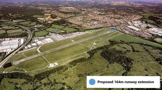 Southampton Airport proposed runway extension